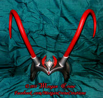 Black, Red and Silver Horned Diadem View #1 by MorganCrone