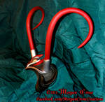 Black, Red and Silver Horned Diadem View #6