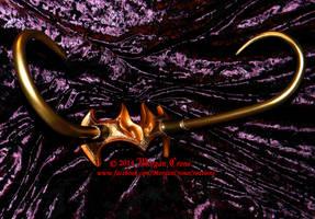 Lady Loki Style Horned Cosplay Diadem by MorganCrone