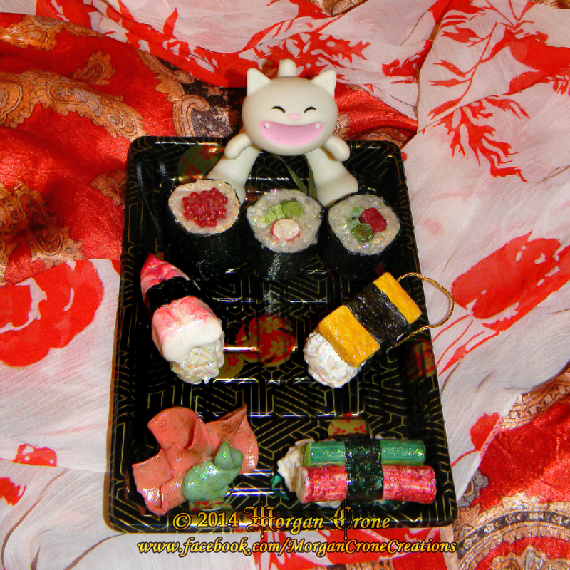 Realistic Sushi Holiday Christmas Ornaments by MorganCrone