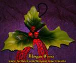Skullyberries Gothic Skull Hollyberry Ornamets