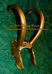Gold Horned Lady Loki Inspired Demihelm Diadem