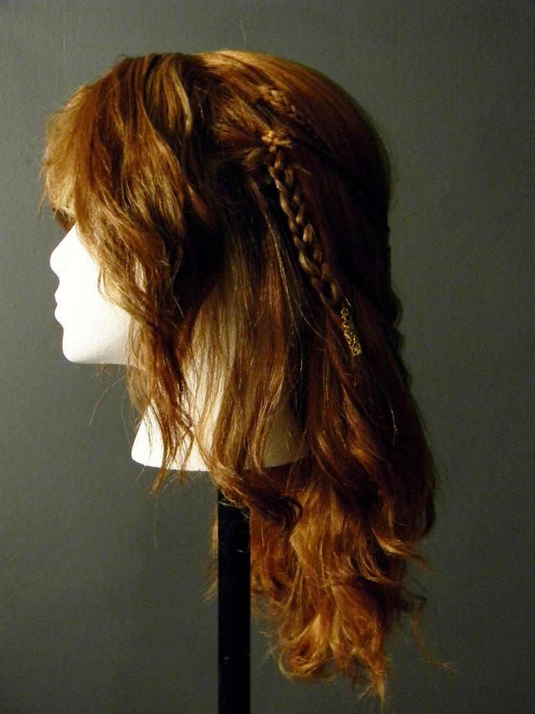 Viking Celtic Warrior Braid Costume Wig Side 2 by MorganCrone