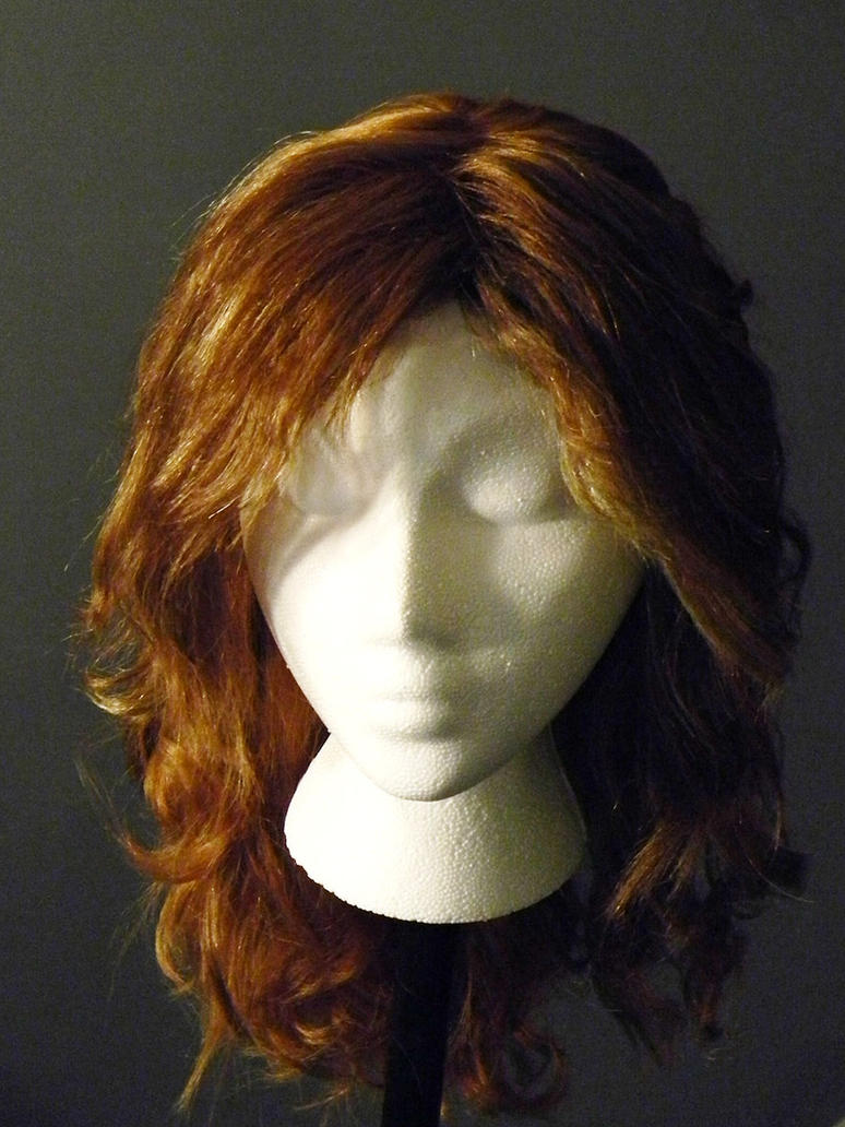 Viking Shieldmaiden Celtic Braid Costume Wig Front by MorganCrone
