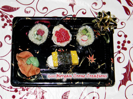 Maki Sushi Holiday Ornament Decorations