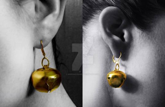Bombshell Harley Quinn Style Cosplay Bell Earrings