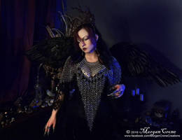 Queen of the Corvids Costume 1 by MorganCrone