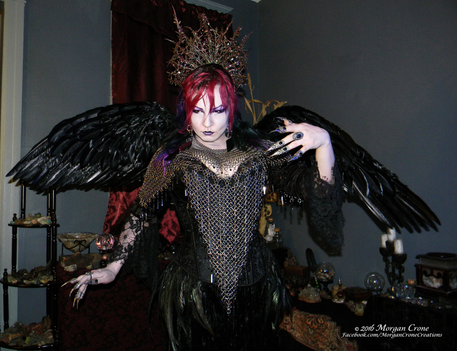 Queen of the Corvids Costume 13 by MorganCrone