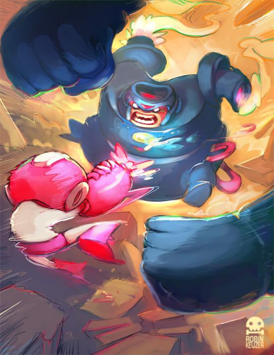Megaman Tribute art by RobinKeijzer