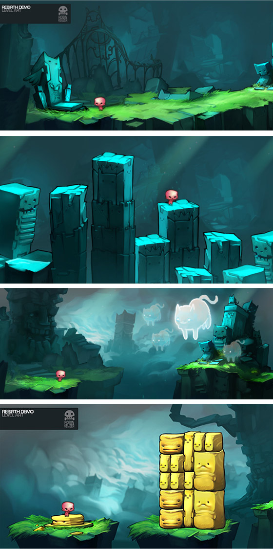 Rebirth background designs by RobinKeijzer