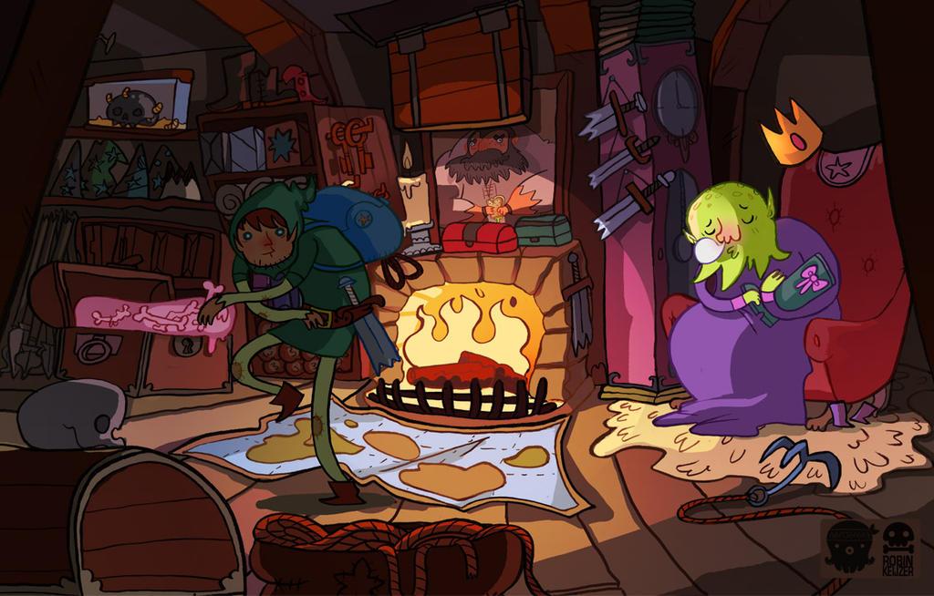 SUPERQUEST Adventuregame art - The collector by RobinKeijzer