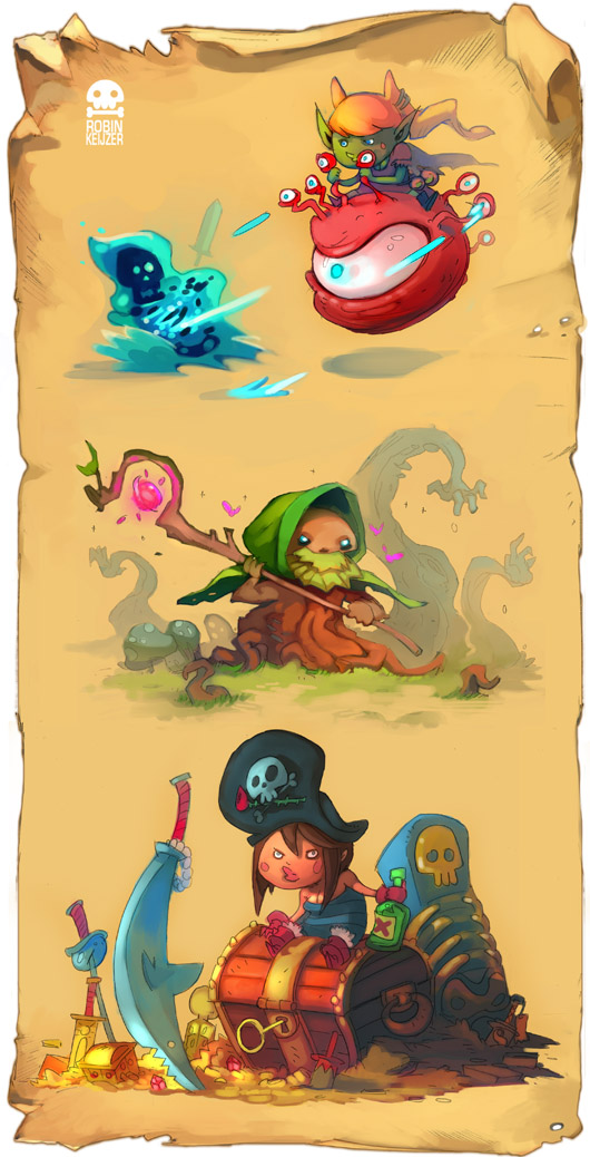 DandD characters by RobinKeijzer