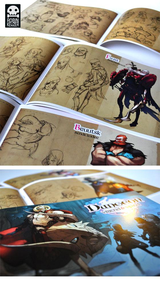 Dungeon mini artbook by RobinKeijzer