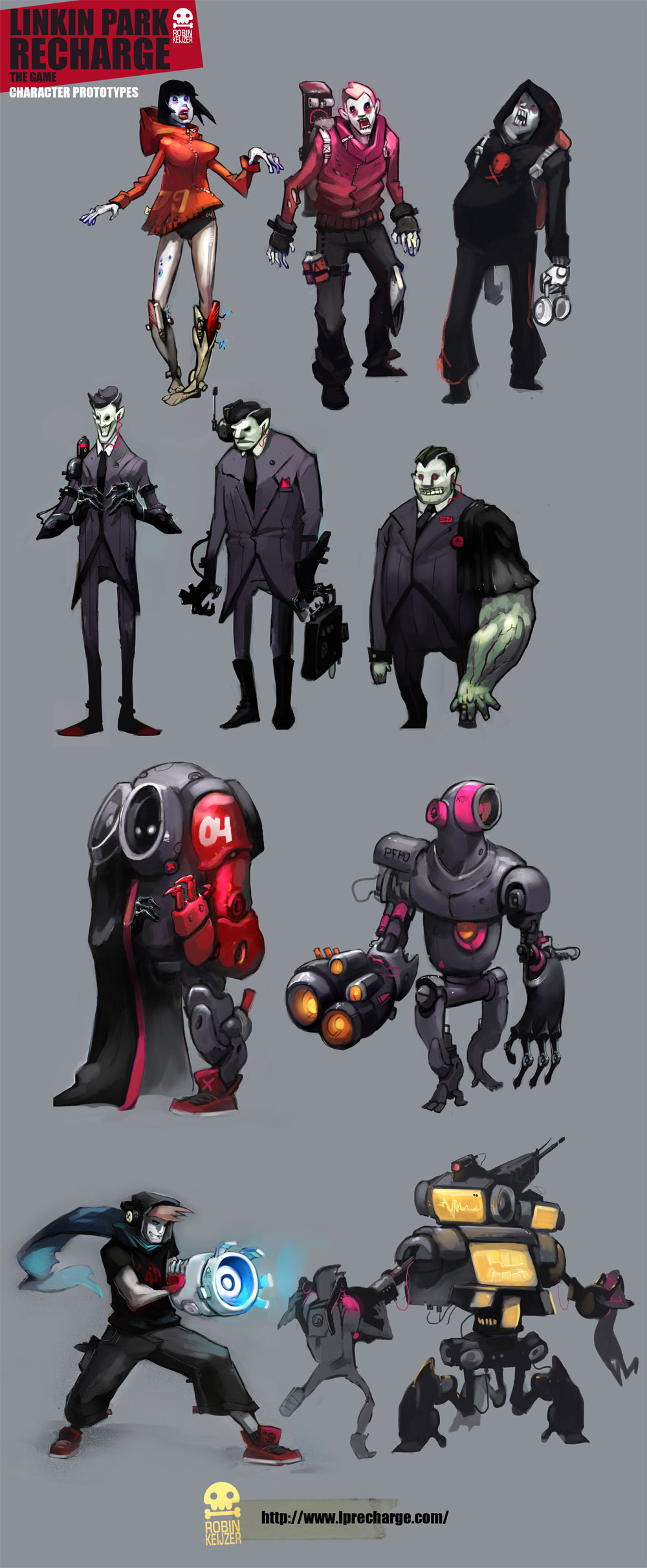 Linkin Park Recharge characters by RobinKeijzer