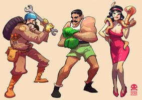 GangUp! Characters by RobinKeijzer