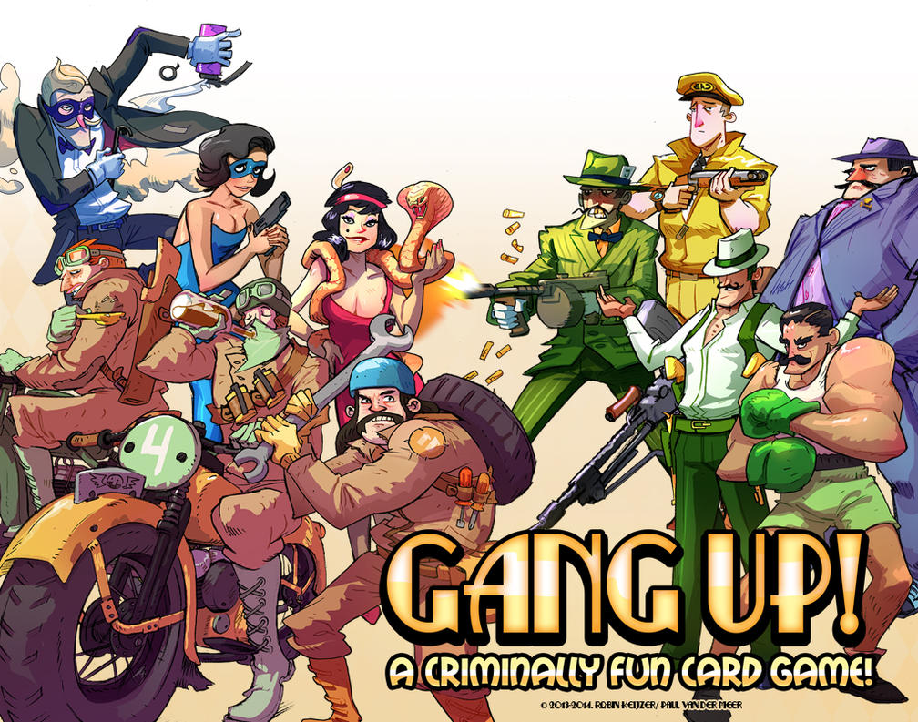 Gang Up! Cardgame illustrations by RobinKeijzer