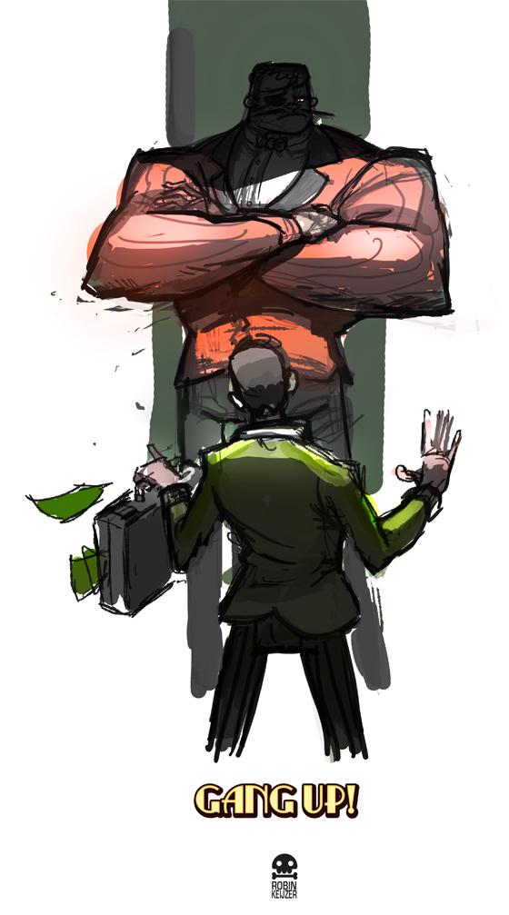 Intimidator Sketch by RobinKeijzer