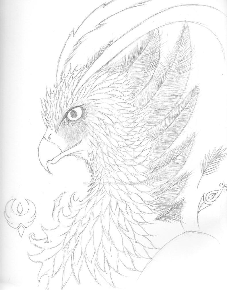 Phoenix Sketch by Kaligraphy22