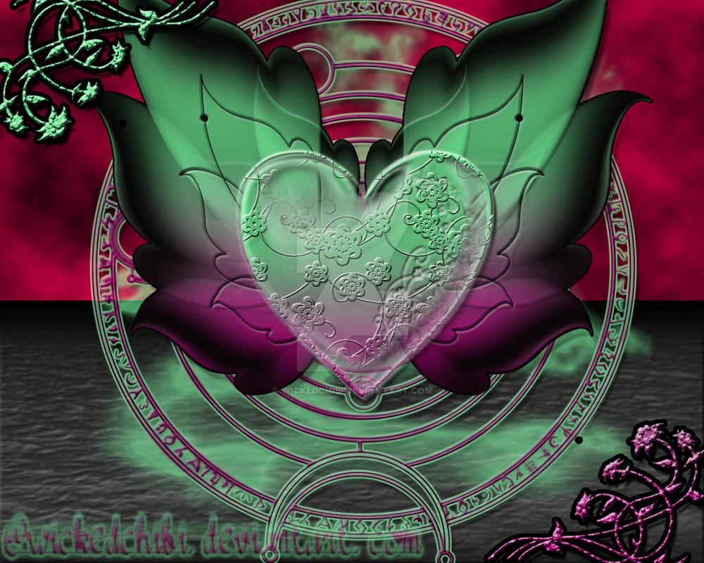 +Flutter Heart+ by WickedChibi