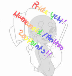 Happy Pride Month! Pride Flag point YCH [OPEN]