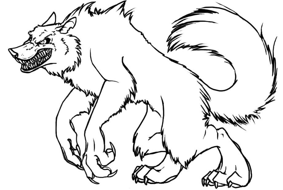 werewolf outline by the nk