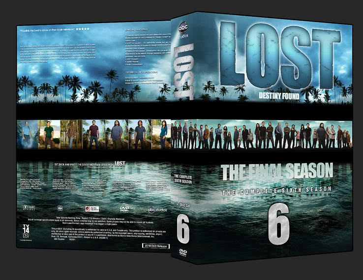 Lost Season 6 custom DVD Cover by Fr1ction
