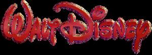 Walt Disney Logo (neon red, 1986)