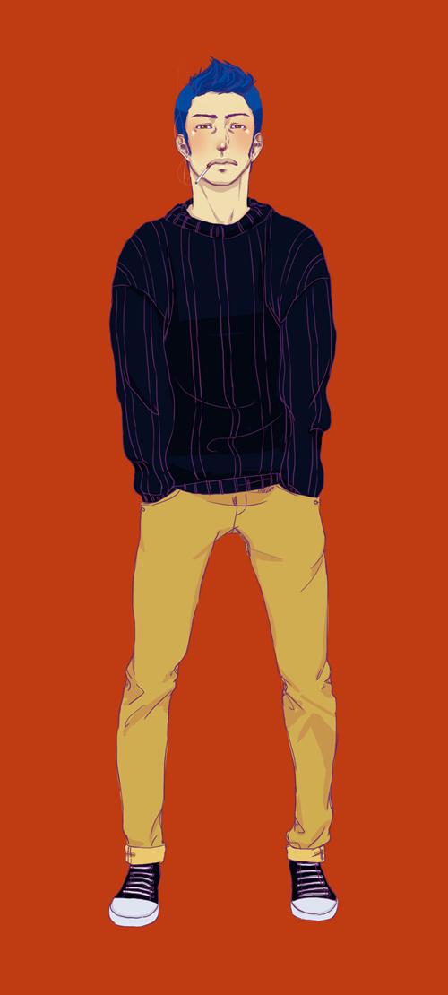 Skinny jeans by uke--chan