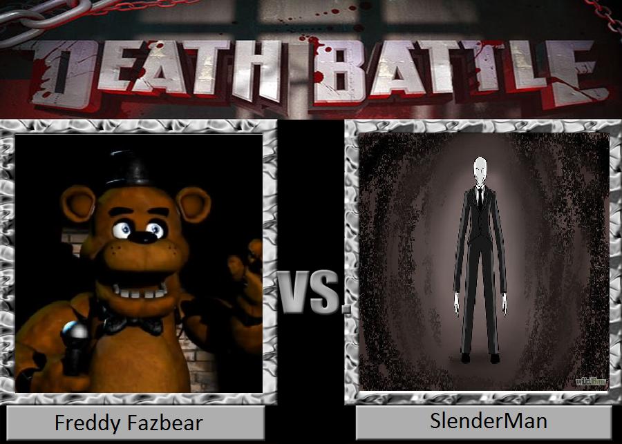 Death battle freddy fazbear vs slenderman by masonartcarr