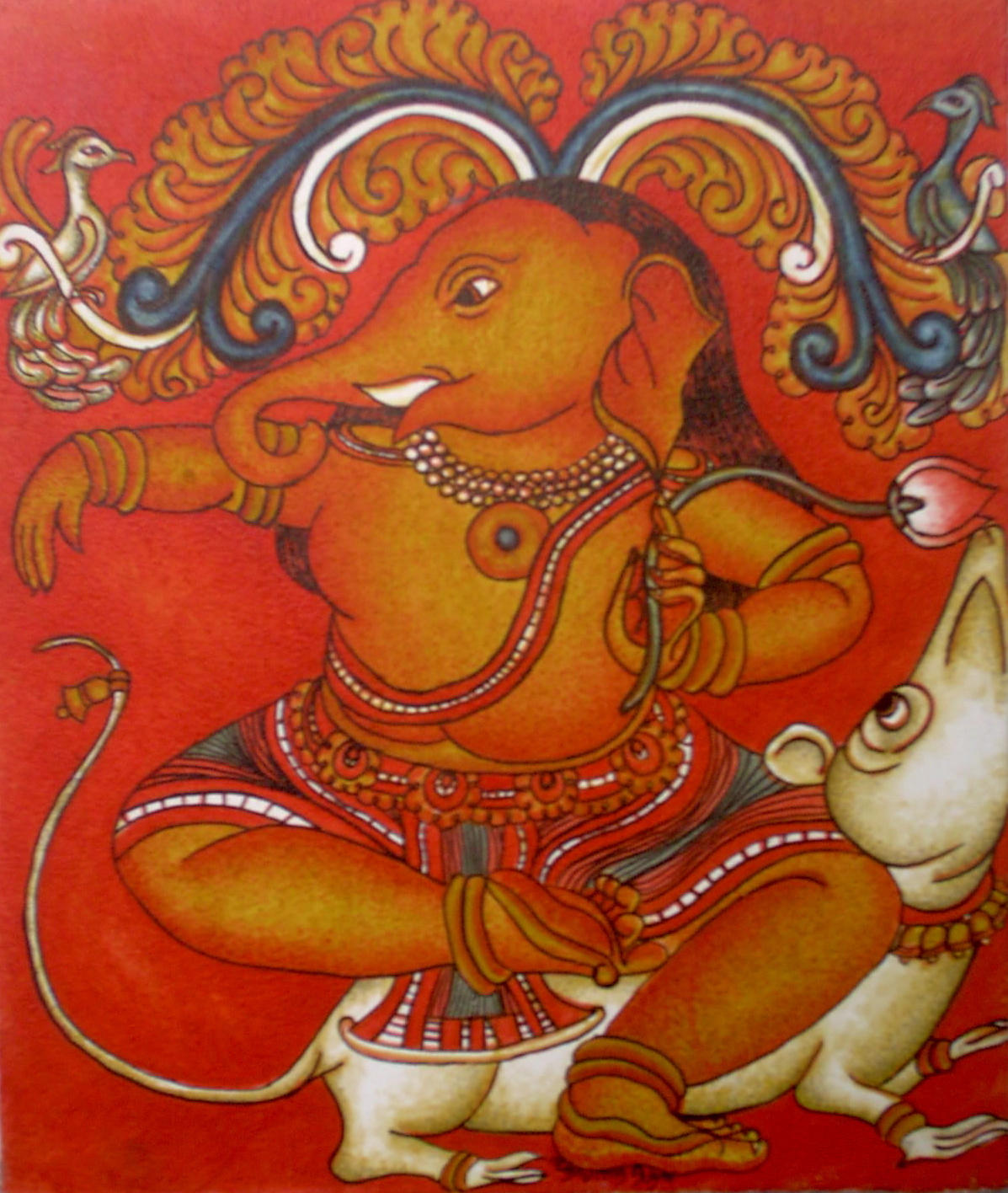 Collection of amazingly beautiful mural art works from for Mural art of ganesha