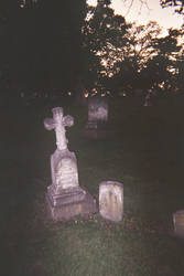 Cedar Rapids Oak Hill Cemetery Cemetery at dusk by DannySamFanMan