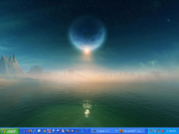 Space Desktop Screen by Gp5