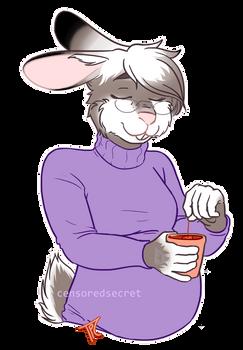 [$] BunBun Relaxing with Tea