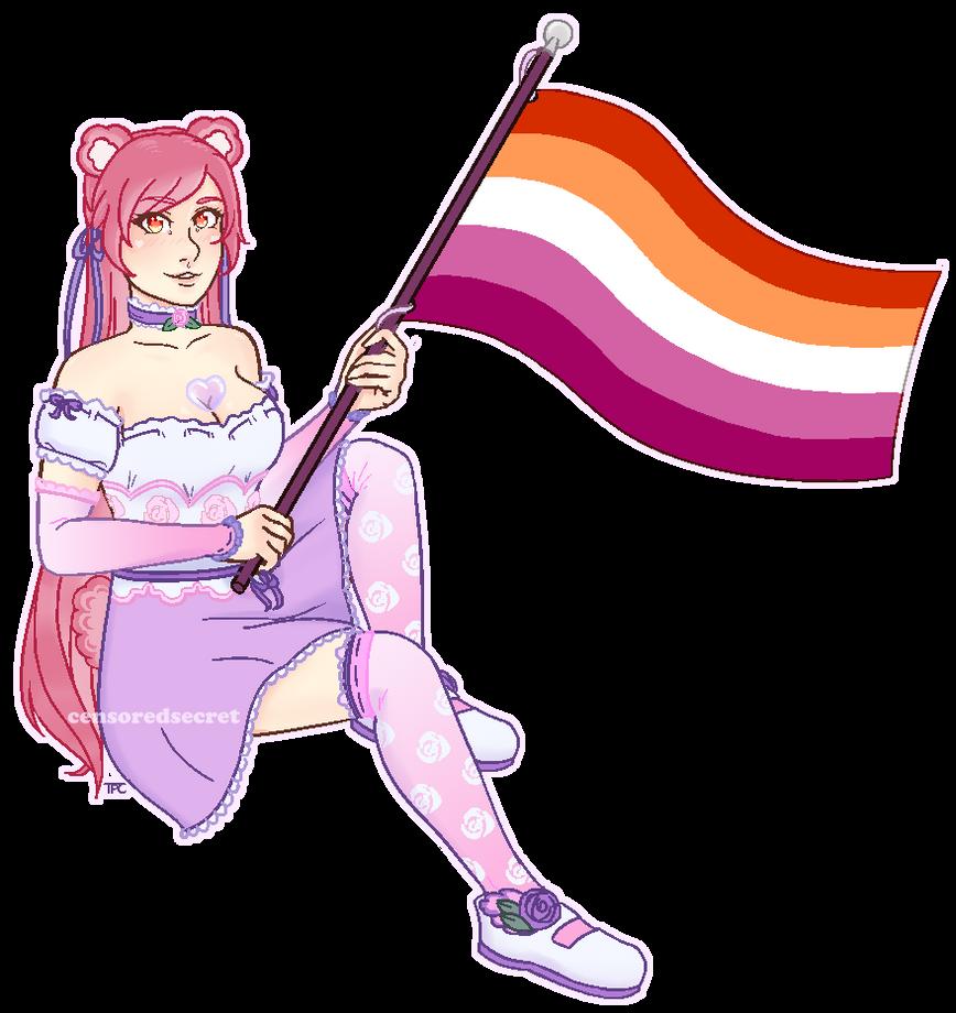 [$] Mura | Pixel Pride Flag Pagedoll