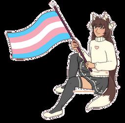 [$] Caramello | Pixel Pride Flag Pagedoll