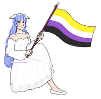 [$] Shannon | Pixel Pride Flag Pagedoll