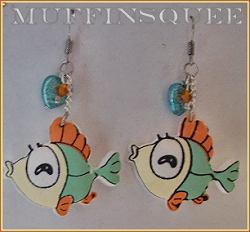 Fishie Earrings by MuffinSquee