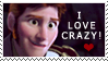 I love crazy! - Hans Stamp by Simmeh