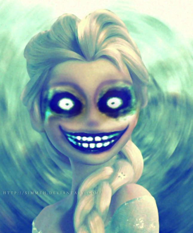 Creepy Elsa by Simmeh