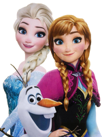 Elsa, Anna, and Olaf - Png by Simmeh