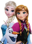 Elsa, Anna, and Olaf - Png