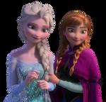 Elsa and Anna - Png
