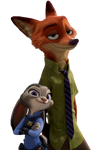 Judy and Nick - Png