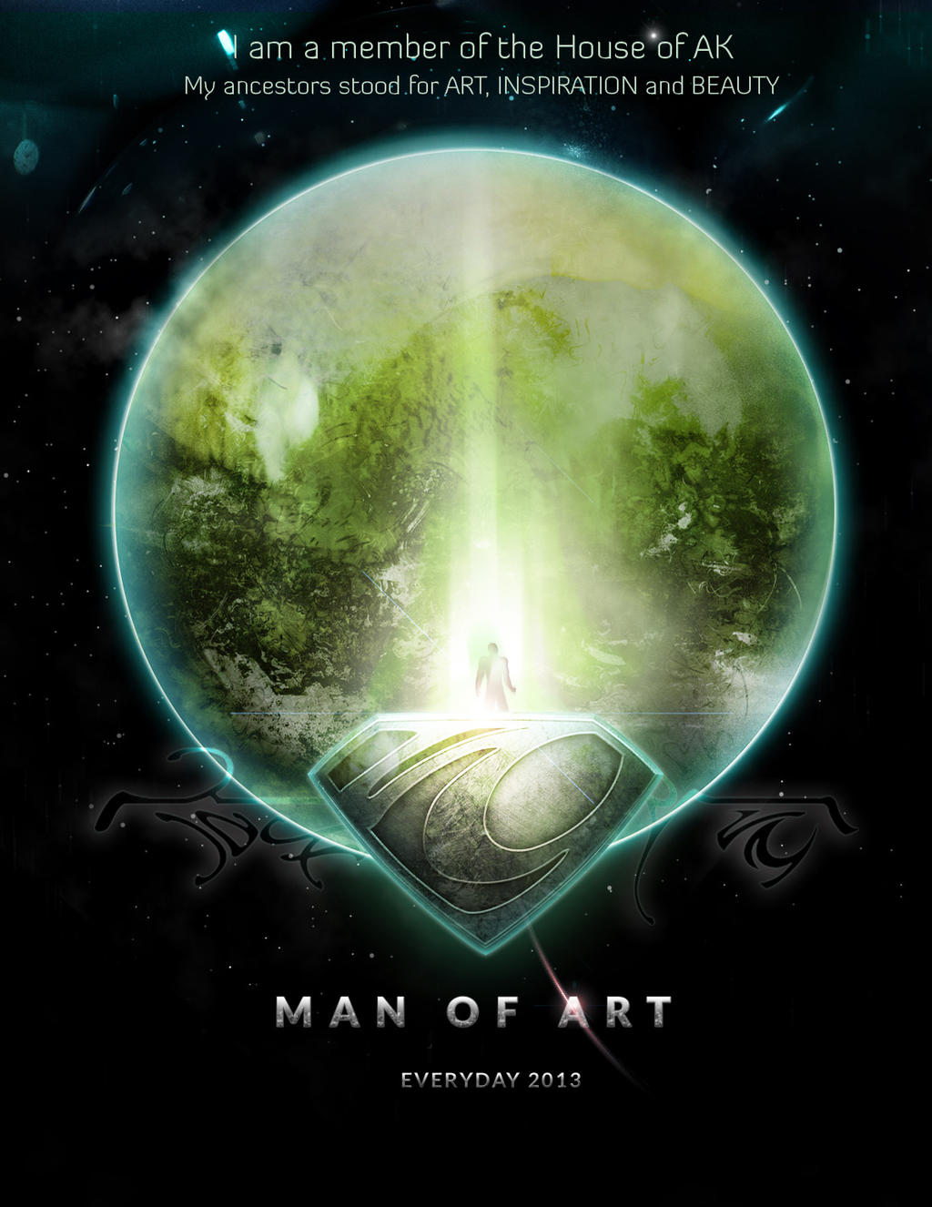 Man of Art Poster