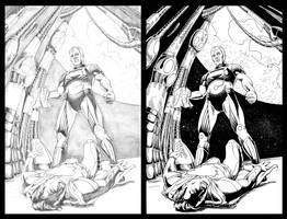 Mock Cover: Superman v Brainiac by KristofferNS