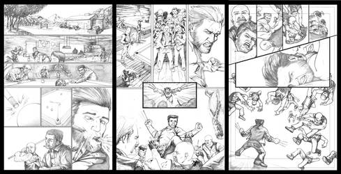 Wolverine Barfight 3 Pager - Pencils