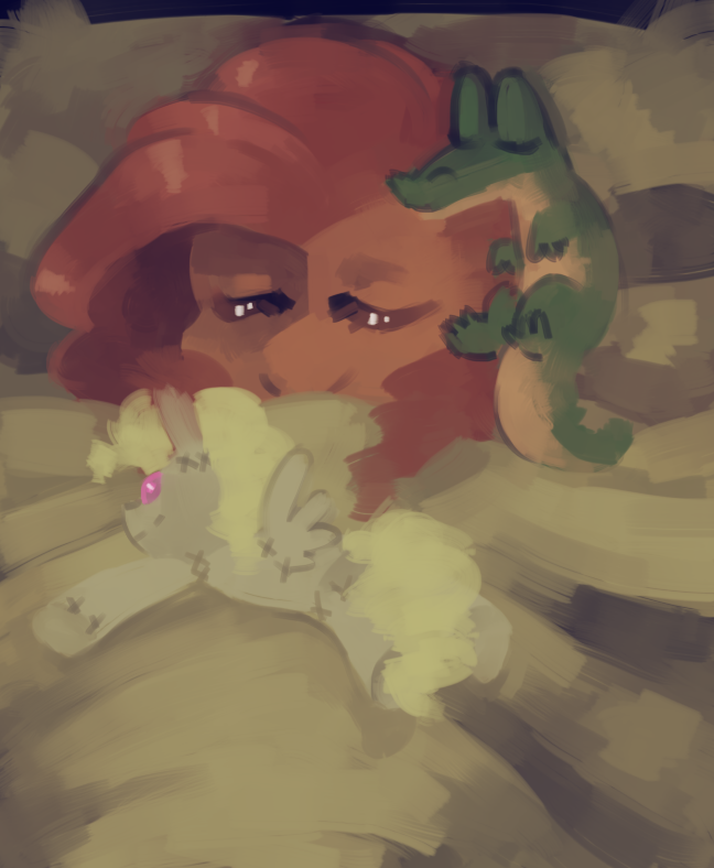 Sleepy Pie with her Gum Gum and Sur Sur Pise Doll by Dhui