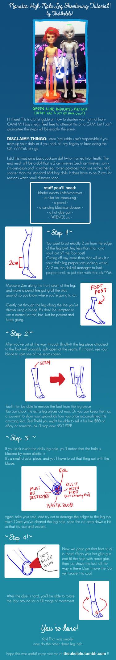 Monster High Male Leg Shortening Tutorial by TheUkelele