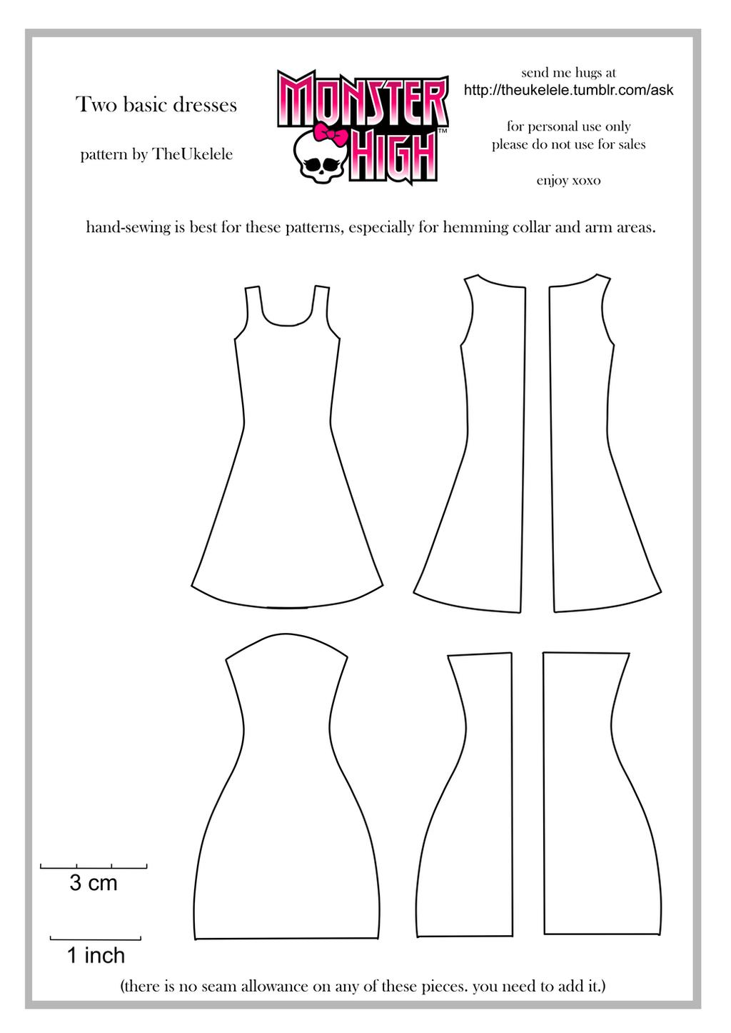 ... patterns on Pinterest   Monster High, Barbie Dolls and Dress Patterns
