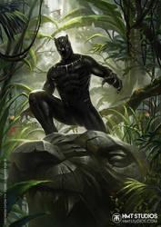 HMT Studios Kevin Tolibao Black Panther Art by hmtstudios